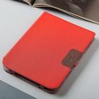 Чехол-книжка Snoogy для эл. книги PocketBook 740, ткань, красный