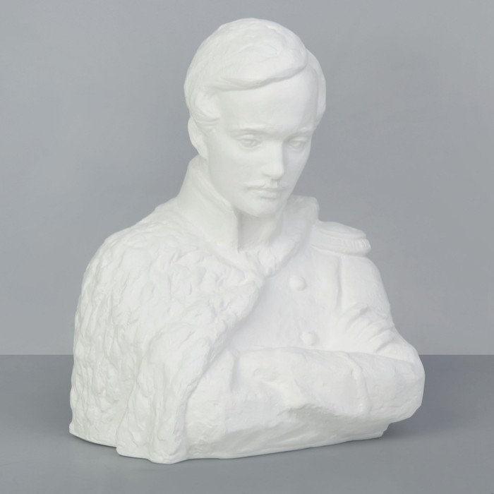 Гипсовая фигура, Известные люди- Лермонтов, «Мастерская Экорше», 20х18х24,5 см