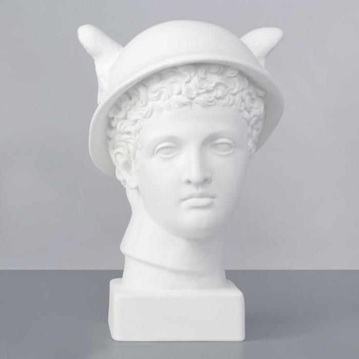 Гипсовая фигура Академическая Голова Меркурия 25*22*37 10-158
