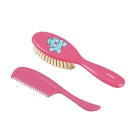 Расчёска детская + массажная щётка с натуральной щетиной, цвета МИКС