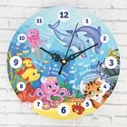 """Часы настенные обучающие """"Подводный мир"""", 20 см"""