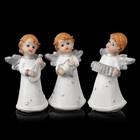 """Сувенир полистоун """"Ангел с серебристыми крыльями в платье в звёздочку"""" МИКС 10,3х4,6х6 см"""