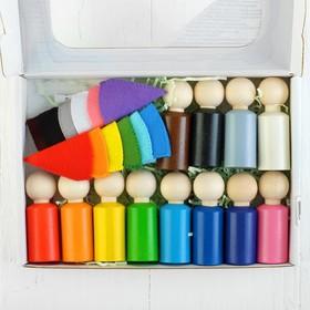Сортер «Разноцветные гномики», размер: 2 × 6 см, 12 шт., в колпаках