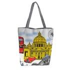 """Женская летняя сумка """"Лондон"""", замок-молния, на подкладе, цвет серый"""