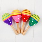 """Musical toy """"Maracas"""", with white polka dots mix color"""