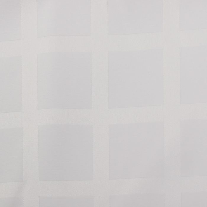 Ткань для столового белья с ГМО Геометрия ширина 155 см, длина 30 м, цвет белый, 198 г/м²