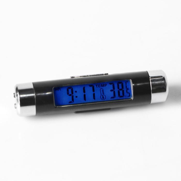 Часы - термометр в дефлектор