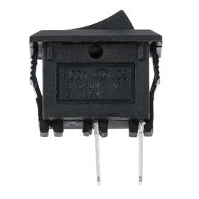 Выключатель клавишный без подсветки одинарный, черный Ош