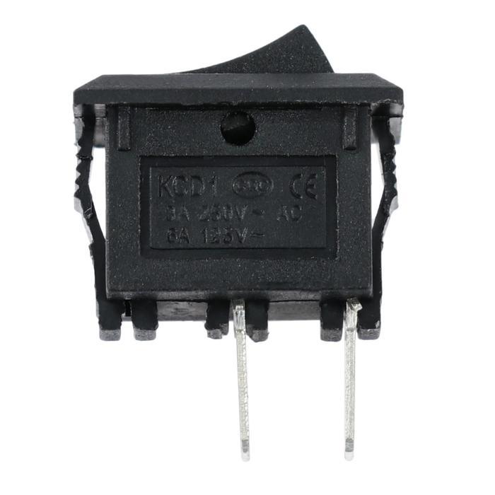Выключатель клавишный, 1.5 x 1 см, черный