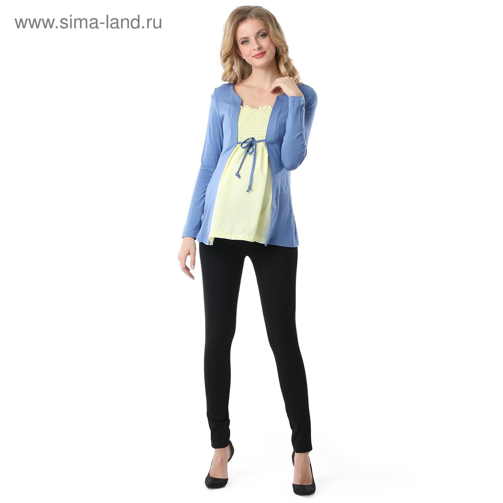 0f484f4e14d4c Блузка для беременных Анабель цвет индиго желтый, р-р 44 (3801480 ...