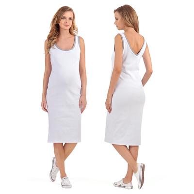 Платье для беременных Аврил 45379 цвет белый, р-р 48