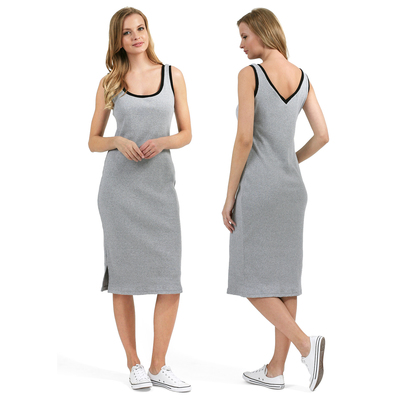 Платье для беременных Аврил 45378 цвет серый меланж, р-р 46
