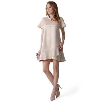Платье для беременных и кормящих Александрия 45490 цвет бежевый, р-р 50
