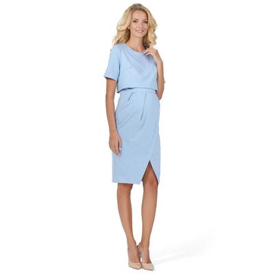 Платье для беременных и кормящих «Мира», цвет «денимный меланж», р-р 48