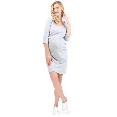 Платье для беременных Моник 45260 цвет серый меланж, р-р 48