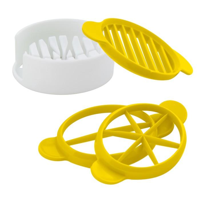 Набор яйцерезок, 3 шт, цвет МИКС