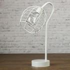 """Лампа настольная лофт """"Идея"""" белая 3ААА 14х18х33 см"""