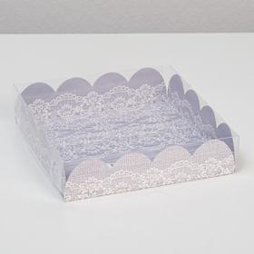 """Box for confectionery products with PVC cover """"enjoy the little things"""", 13 x 13 x 3 cm"""
