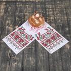 """Рушник """"Хлеб-Соль"""", цветы, 100х25 см"""