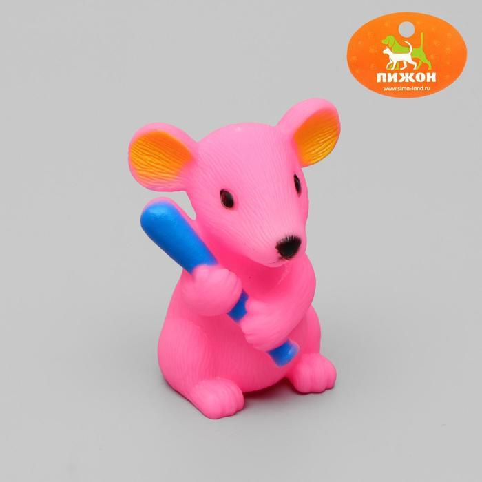 """Игрушка пищащая """"Мышь"""" для собак, 9 см, микс цветов"""