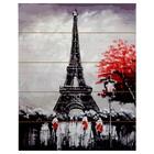 """Картины по номерам на дереве 40х50 """"Вечер в Париже"""" 21 цв"""