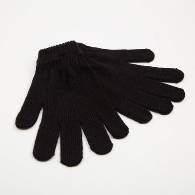 Перчатки мужские 161 цвет чёрный, р-р 20