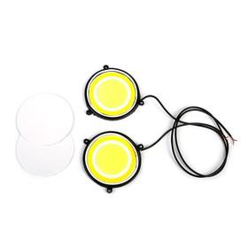 Daytime running lights KS, KS-COB-5R, with angel eyes, 87x4x487mm, 2pcs.