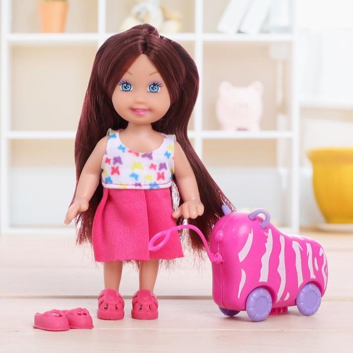 "Кукла малышка ""Ева"" в платье с аксессуарами"