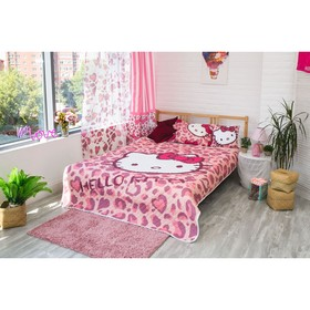 Покрывало Hello Kitty цвет розовый 160х200 см, поплин