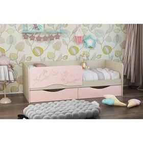 Кровать Дельфин-2 1.6, 1630х860х660, Розовый/Белфорт