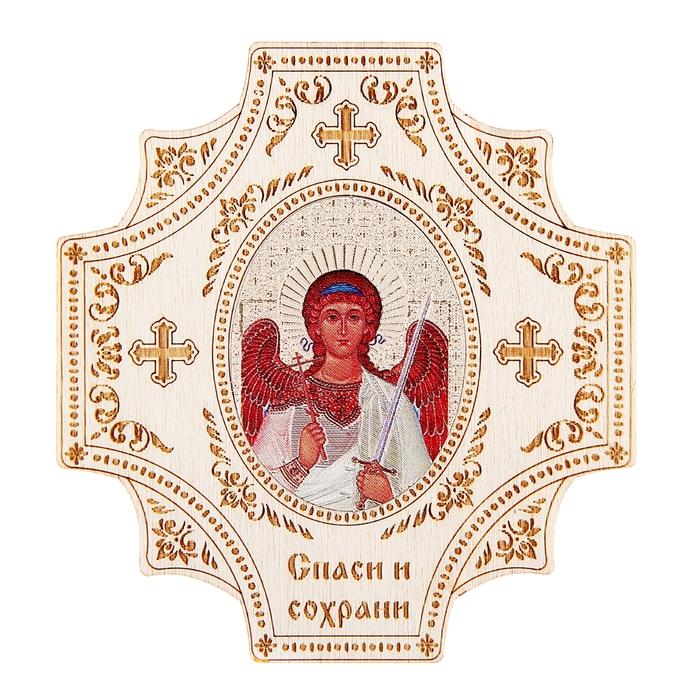 """Крестообразная икона в авто """"Ангел- Хранитель"""" на клеящейся основе"""