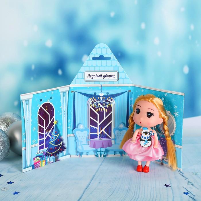 """Кукла """"Ледовой дворец"""" 9 см, пингвин"""
