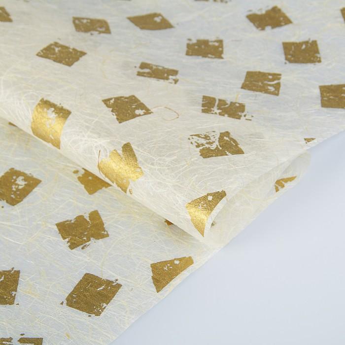 "Paper of Abaca, Abaca Paper, ""Print gold"", 0,64 x 0.94 m 30 g/m2"