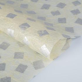 Бумага из абаки, Abaca Paper, «Печать серебряная», 0,64 х 0,94 м, 30 г/м2