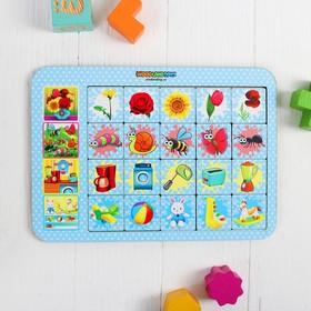Игра настольная «Ассоциации: цветы, насекомые, игрушки»
