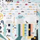 """Набор бумаги для скрапбукинга (16 листов) """"В детском мире"""" 30,5 х 30,5 см, 190гр/м2"""