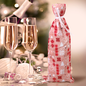 "Новогодний чехол для бутылки ""Тепла и уюта"""