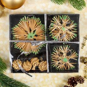 "Eco-decor gift-wrapped ""Magic snowflakes"", 16 elements"