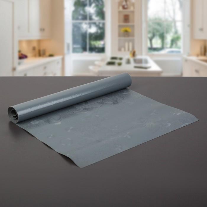 """Коврик противоскользящий сервировочный """"Лютики"""" 30х150 см, цвет серый"""