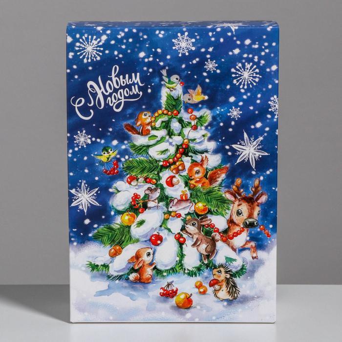 Складная коробка «С Новым годом», 16 × 23 × 7.5 см