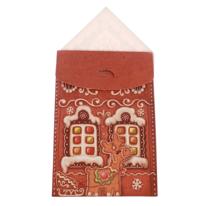 Складная коробка «Пряничный домик», 15 × 7 × 22 см