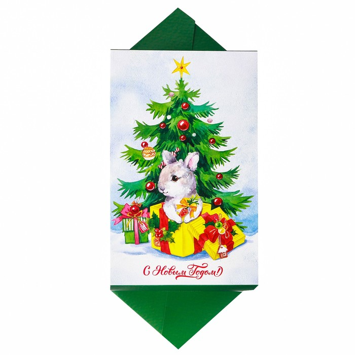 Складная коробка‒конфета «Накануне Рождества», 9.3 × 14.6 × 5.3 см