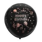 "Шар латексный 17"" Happy Birthday, конфетти неон, 1 шт., цвет чёрный - фото 308469420"