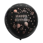 "Balloon latex 17"" ""Happy Birthday confetti neon"", 1 piece, color black"