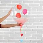 """Шар полимерный 18"""" «Весенний с мишурой и подвеской», розовый, 1 шт. - фото 308466571"""