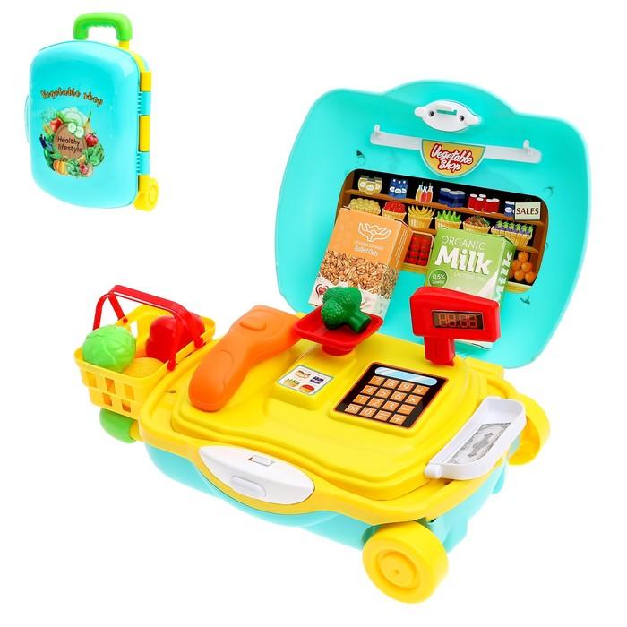 """Игровой набор """"Продуктовый магазин"""" в чемодане, 21 предмет"""