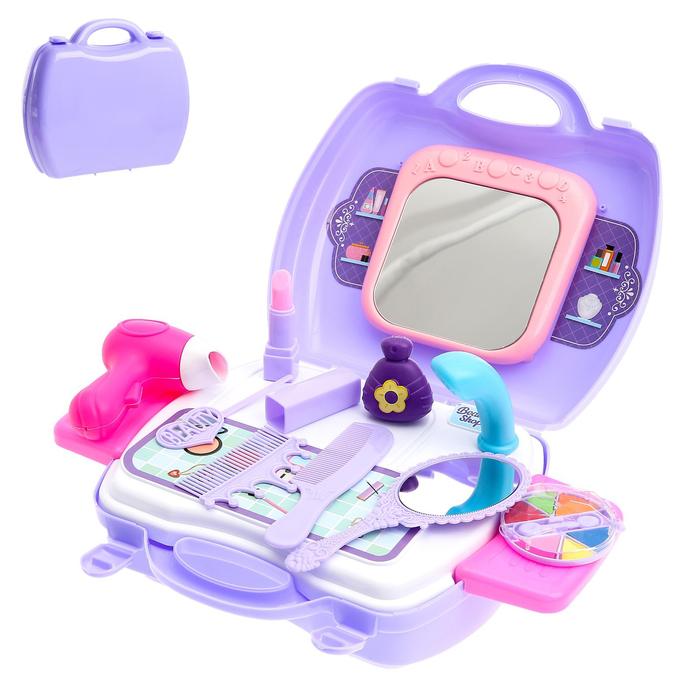 Игровой набор «Салон модницы» в чемодане, 19 предметов