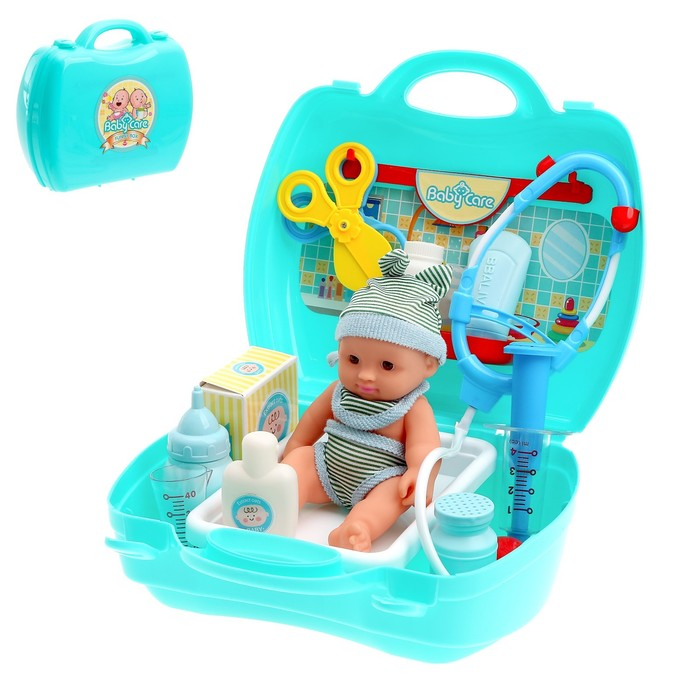 """Игровой набор доктора """"Лечим малыша"""" в чемодане, 20 предметов"""