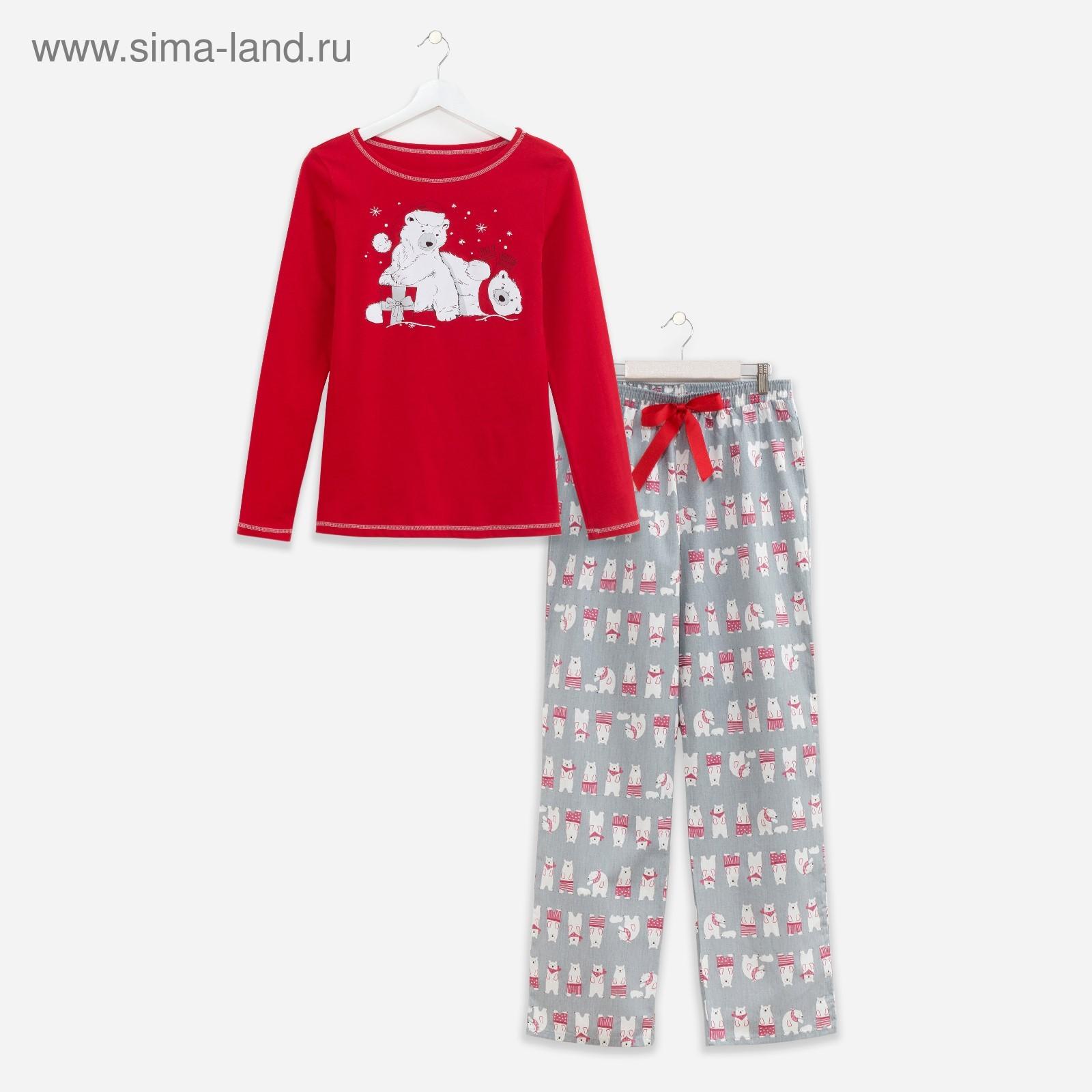 a58bf7f75b224 Пижама женская KAFTAN «Подарок», цвет красный, размер 40–42 (3596855 ...