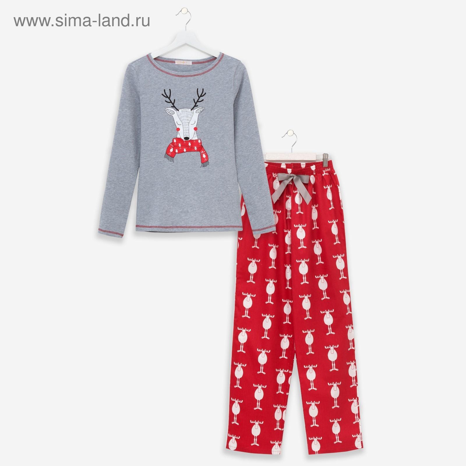c368cee13dc49 Пижама женская KAFTAN «Новогодняя», размер 44–46 (3596859) - Купить ...